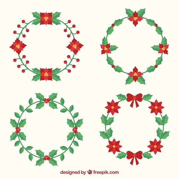 Nice simple christmas wreaths