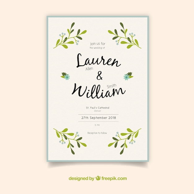 Nice simple wedding invitation vector free download nice simple wedding invitation free vector stopboris Choice Image