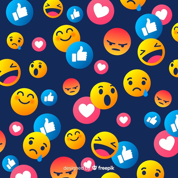 Nice smiley background Free Vector