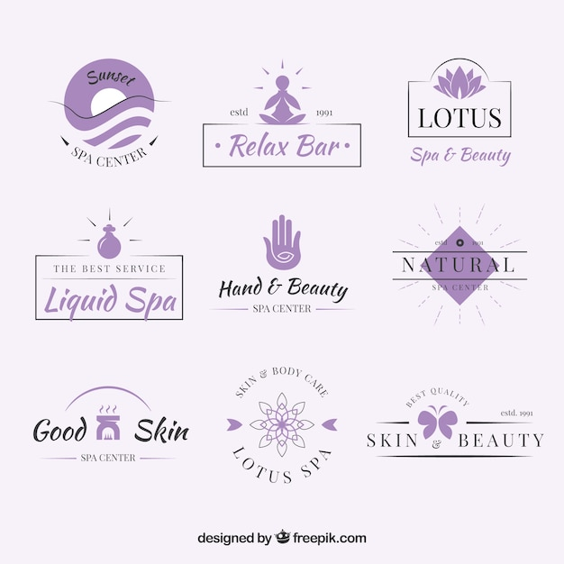 Nice spa logotype templates Vector   Free Download