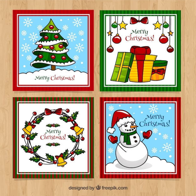 Nice square cards for christmas