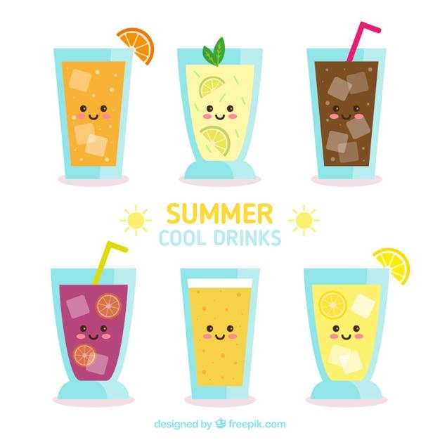 Nice summer fruit drinks