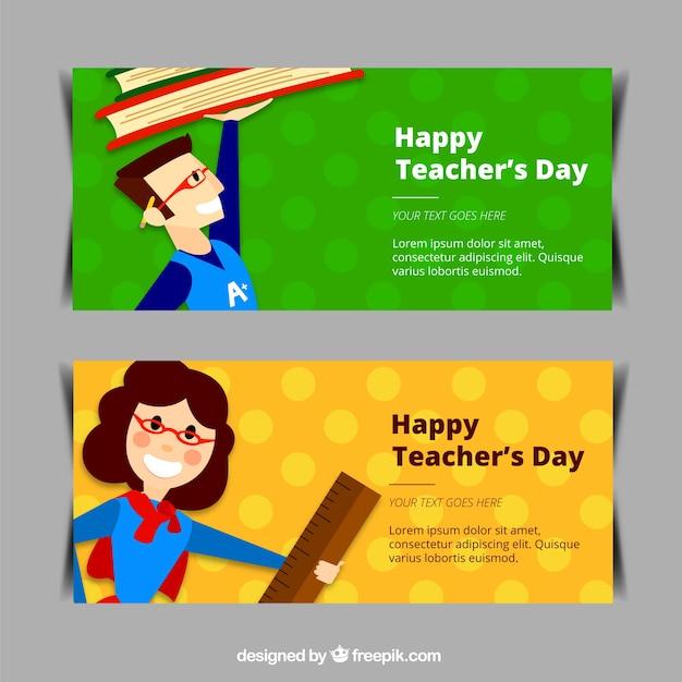 Nice teacher\'s day banners