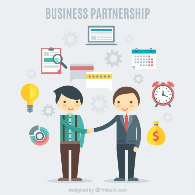 Nice teamwork with business elements