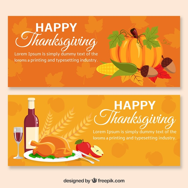 Nice thanksgiving banners