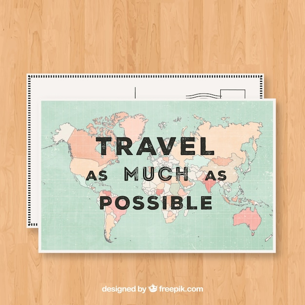 Nice Travel Postcard Template Vector Free Download - Postcard template free download