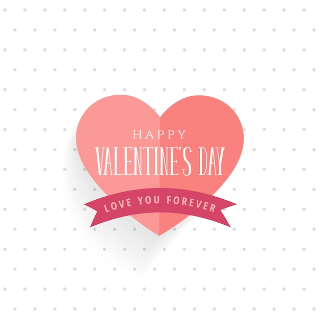 Nice valentine\'s day greeting design in origami style Vector ...