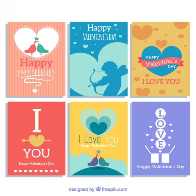 nice valentines day greeting cards vector free download