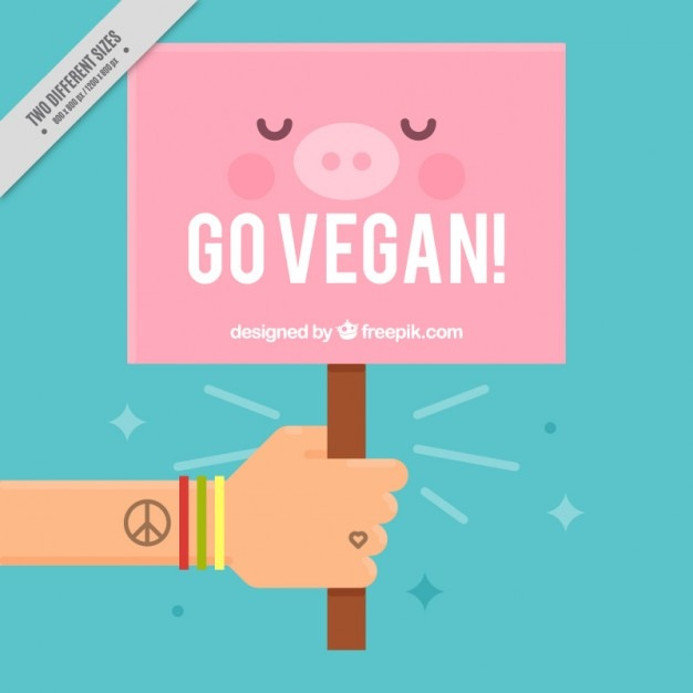 Nice vegan sign background  Free Vector