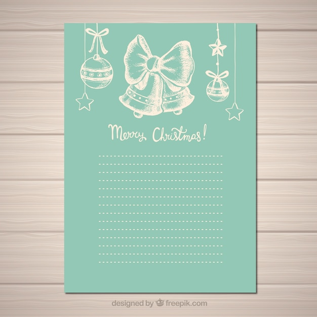 Nice vintage letter template in turquoise Vector | Free Download