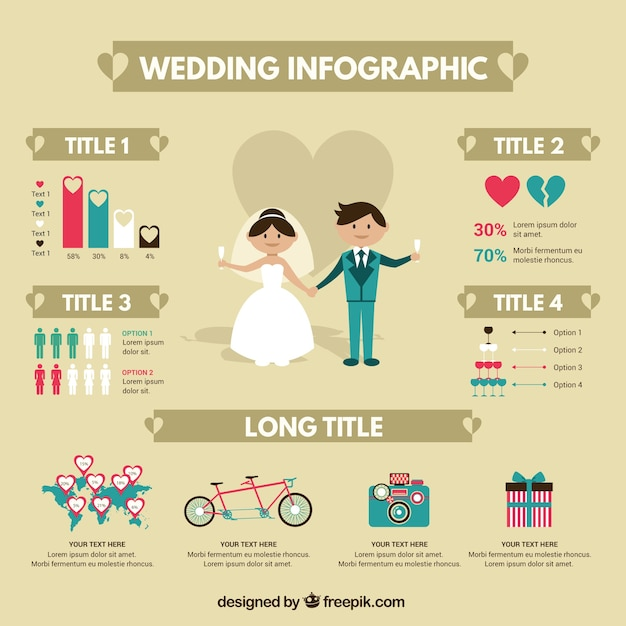 Nice Wedding Infographic Vector Free Download
