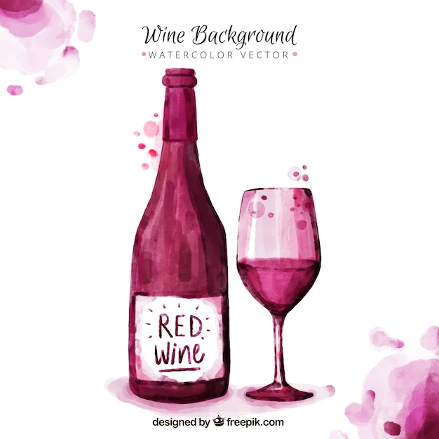Nice wine background painted with\ watercolors