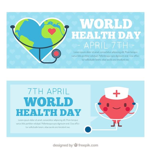 Nice world health day banners