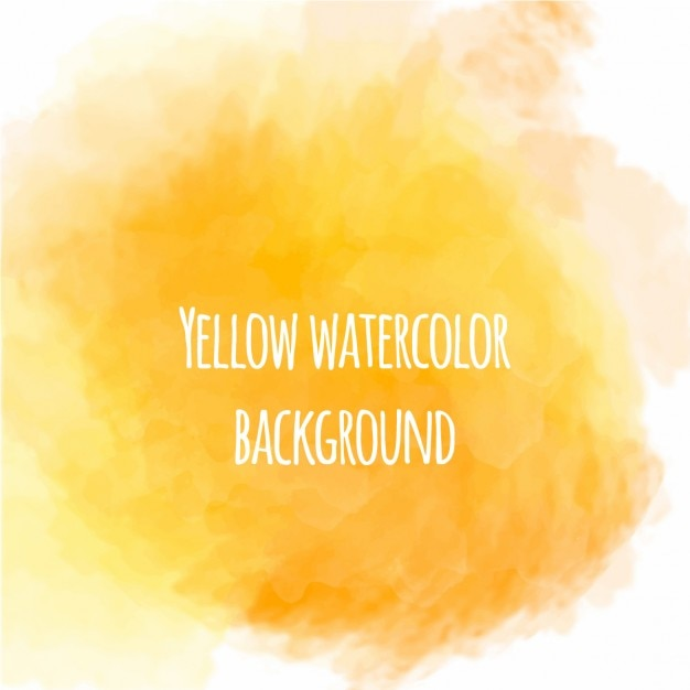 Nice yellow watercolor background Free Vector