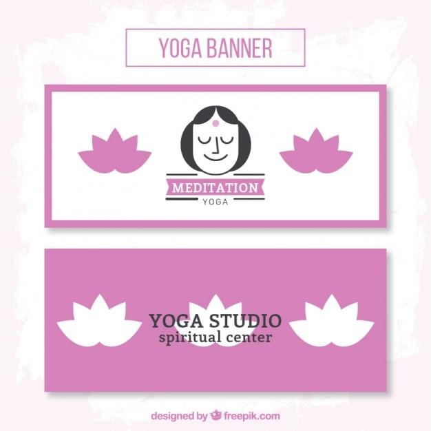 Nice yoga banners