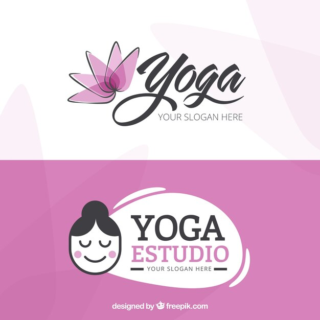 Nice Yoga Center Logos Vector