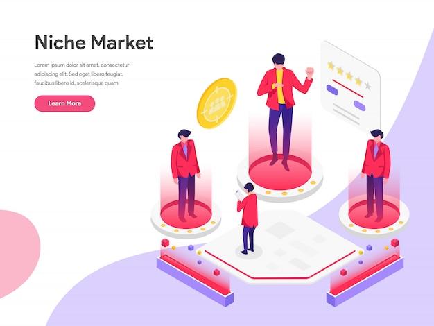 Niche market isometric illustration concept Premium Vector