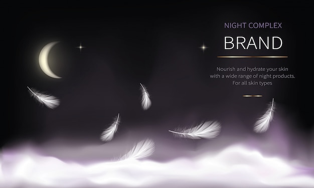 Night background for cosmetic products Free Vector