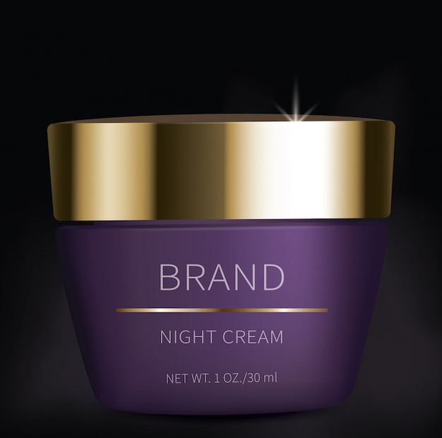 Night cosmetic gel for eyes skin care Free Vector
