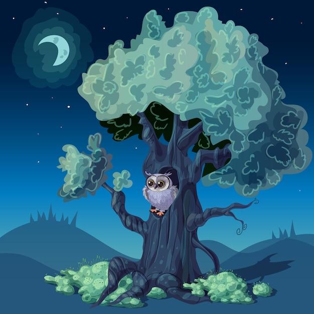 Night forest design Vettore gratuito