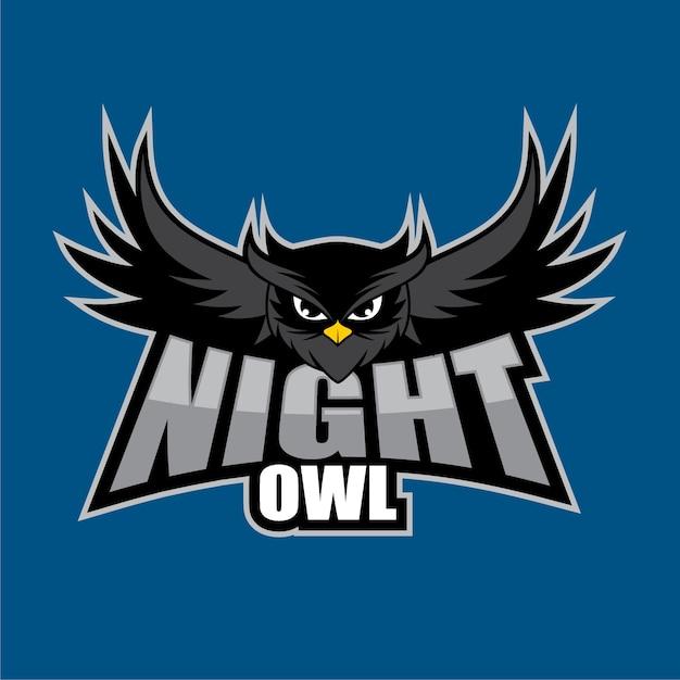 Night owl logo design template Vector   Premium Download