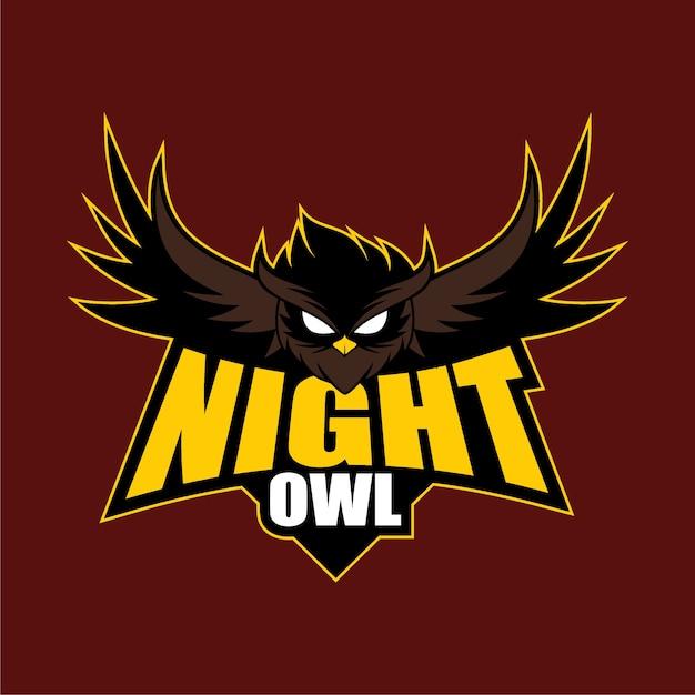 Night owl logo design Vector   Premium Download