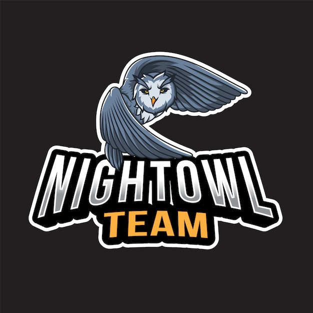 Night owl logo template Premium Vector