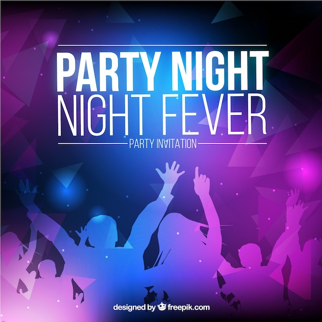 Night party invitation Vector | Free Download