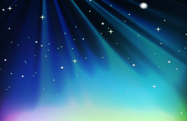 Night scene with stars in sky Free Vector