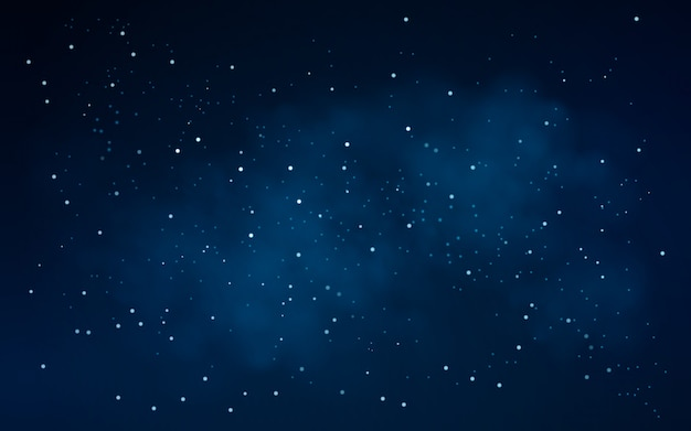 Night sky background with stars Premium Vector