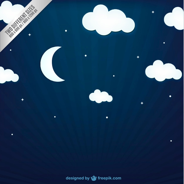 Night sky background Free Vector