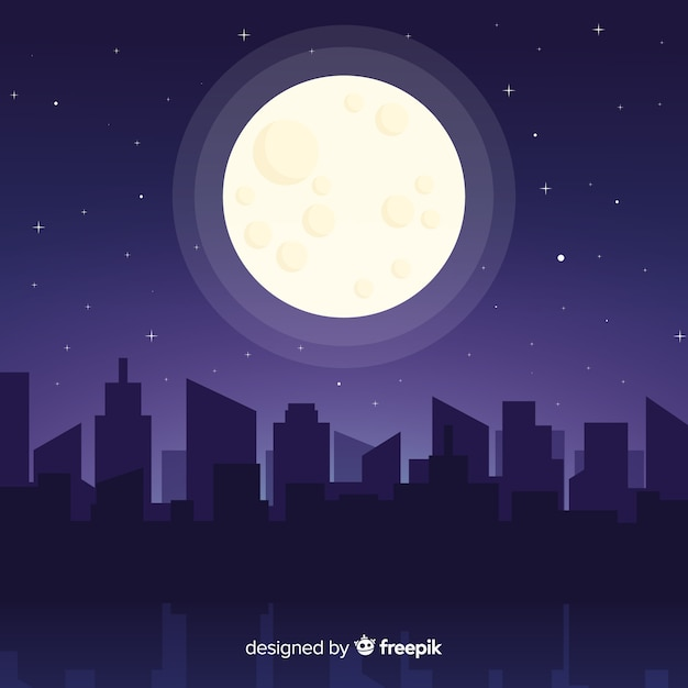 Night sky background Free Vector