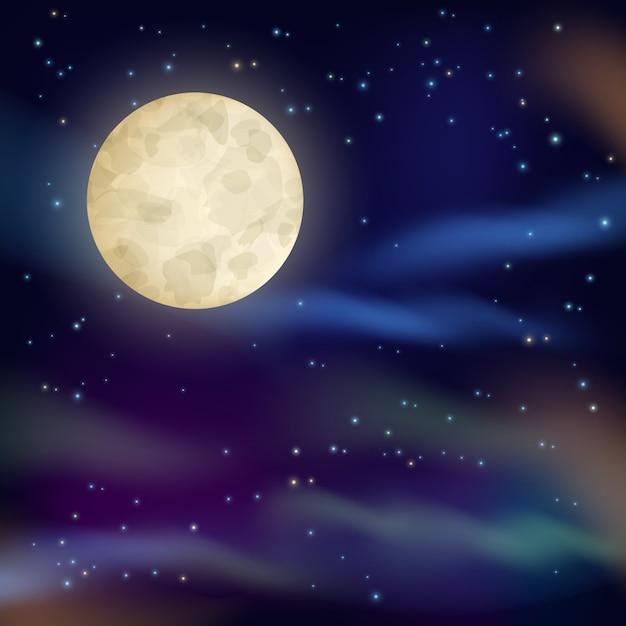 Night sky background Premium Vector