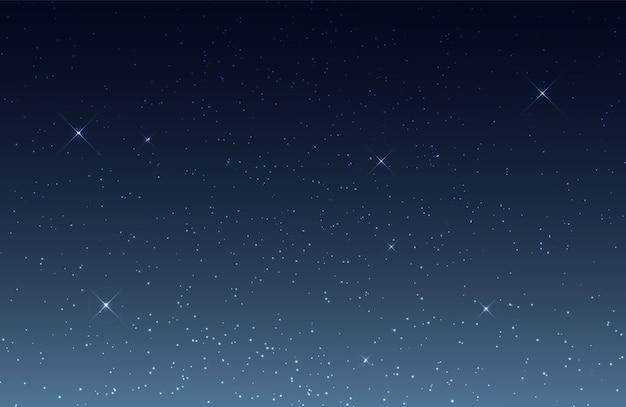 빛나는 별과 밤하늘 프리미엄 벡터