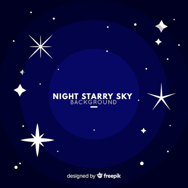 Night starry sky background Free Vector