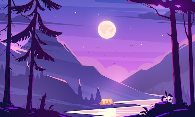 Night Premium Vector