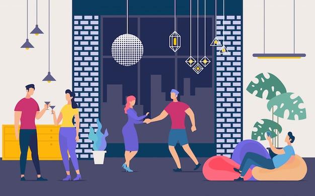 Nightclub party, nightlife and weekend leisure concept Premium Vector