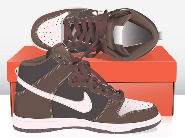Nike Basket Shoes Free Vector