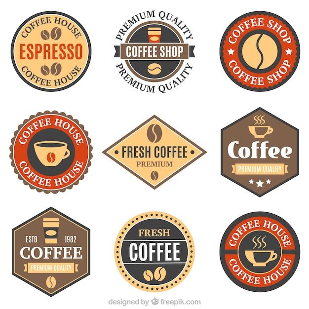 Nine badges for coffee