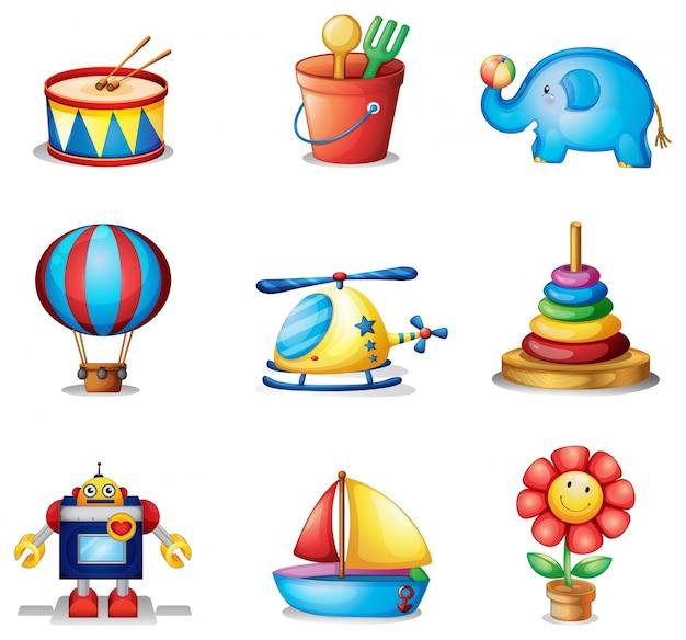 nine different kinds of toys vector free download. Black Bedroom Furniture Sets. Home Design Ideas