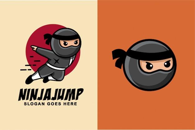 Ninja cartoon Premium Vector