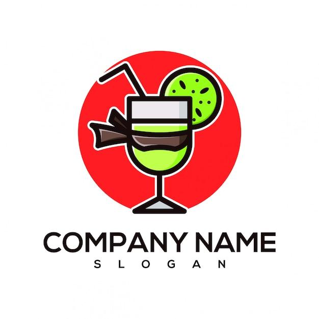 Ninja juice logo Premium Vector