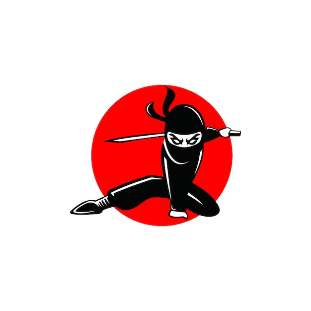 ninja logo abstract modern shape vector premium download rh freepik com ninja logo color pages ninja logo 512x512