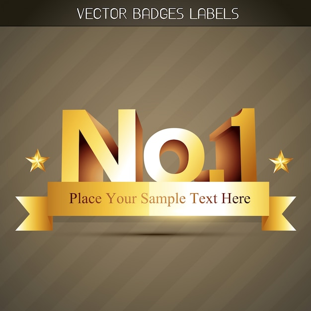 No 1 label design Free Vector