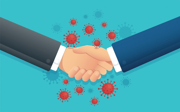 No handshake concept , social distance , coronavirus Premium Vector