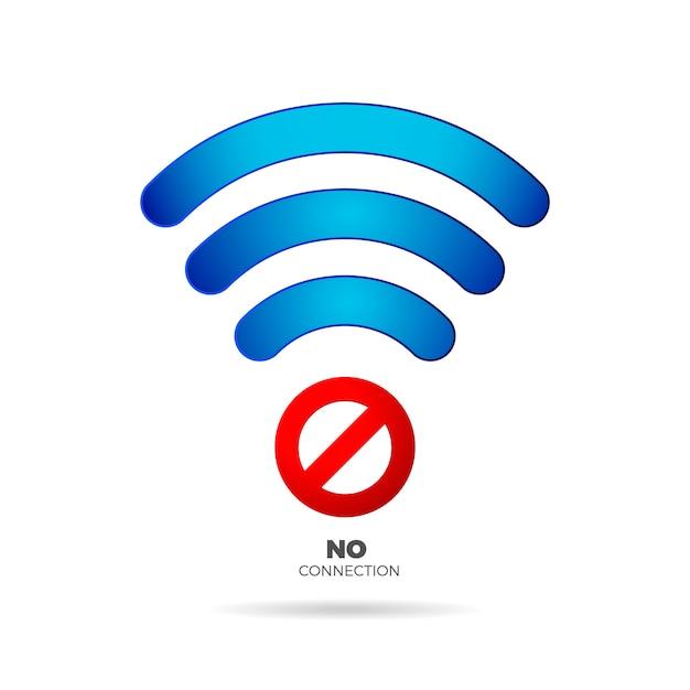 No internet connection sign Premium Vector