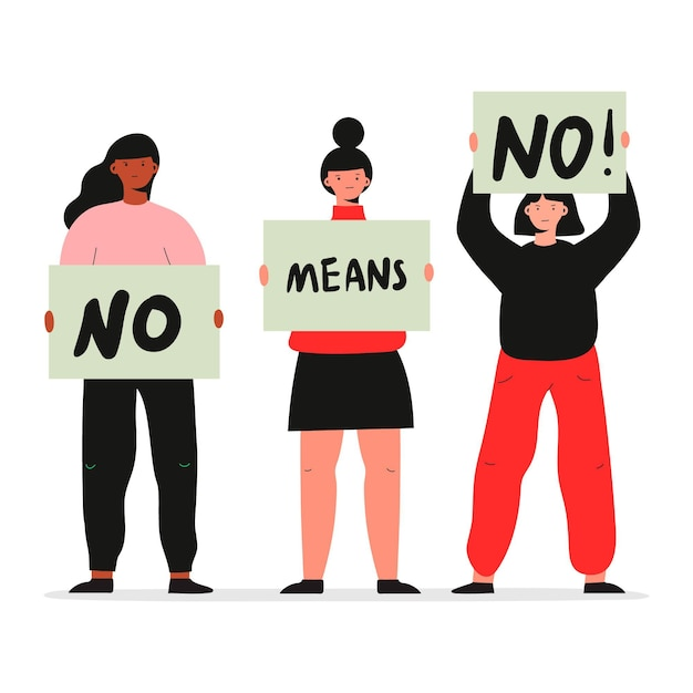 No means no design Free Vector