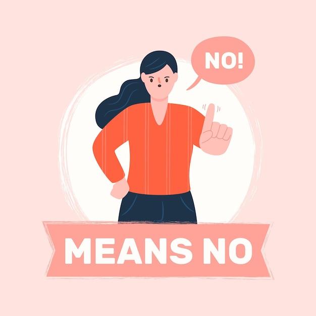 Nessun significa nessun concetto di illustrazione Vettore gratuito
