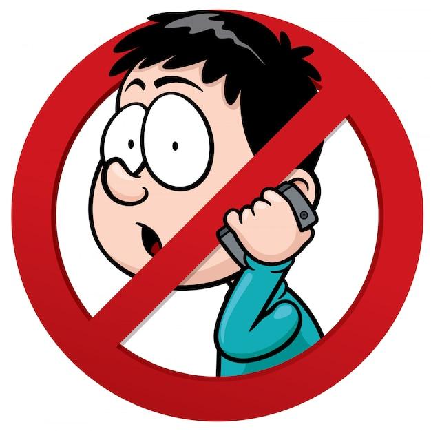 No phone receiver sign Premium Vector
