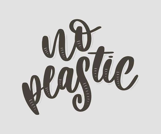 No plastic lettering Premium Vector